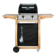 Sahara 2 Burner Oak Deluxe Barbecue & Cover