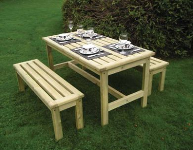 Athol De-Luxe Table Bench Set 1500mm