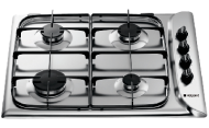 Hotpoint G640SX 60cm 4 Burner Gas Hob with FSD in S/Steel