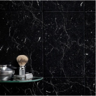 Black Marquina Wall Tile Panel (2420mm x 1220mm x 3mm)