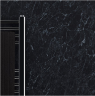 Max-Fit Black Marble PVC Shower Wall Panel (2400mm x 1000mm x 10mm)