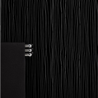 Max-Fit Black Silver String PVC Shower Wall Panel (2400mm x 1000mm x 10mm)