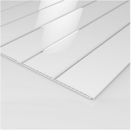 Ancona Double Chrome Gloss Ceiling Panels (2700mm x 250mm x 8mm)