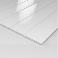 Ancona Double White Gloss Ceiling Panels (2700mm x 250mm x 8mm)