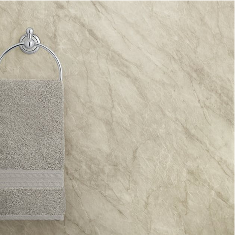 Max-Fit Grey Marble Gloss PVC Shower Wall Panel (2400mm x 1000mm x 10mm)