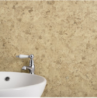 Max-Fit Travertine Stone MT PVC Shower Wall Panel (2400mm x 1000mm x 10mm)
