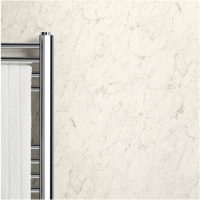 Max-Fit White Marble PVC Shower Wall Panel (2400mm x 1000mm x 10mm)