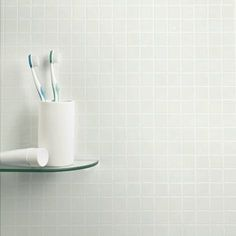 White Mosaic Tile Panel (2420mm x 1220mm x 3mm)
